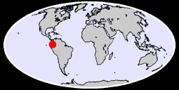 0.80 N, 77.95 W Global Context Map