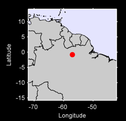 0.80 S, 57.05 W Local Context Map