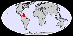 10.45 N, 66.27 W Global Context Map