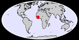 10.45 N, 7.36 W Global Context Map