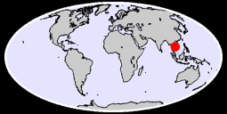 13.66 N, 104.86 E Global Context Map