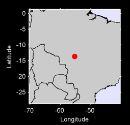 13.66 S, 55.32 W Local Context Map