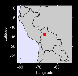 13.66 S, 66.88 W Local Context Map