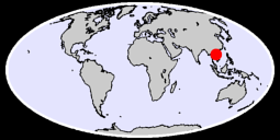 16.87 N, 105.49 E Global Context Map
