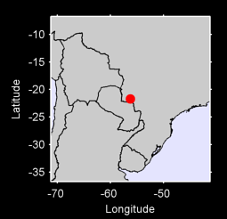 21.70 S, 56.25 W Local Context Map