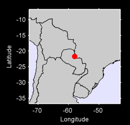 21.70 S, 57.98 W Local Context Map