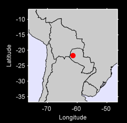 21.70 S, 61.44 W Local Context Map