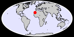 24.92 N, 10.64 W Global Context Map