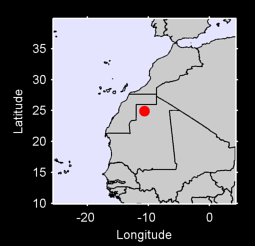 24.92 N, 10.64 W Local Context Map