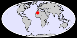 24.92 N, 3.55 W Global Context Map