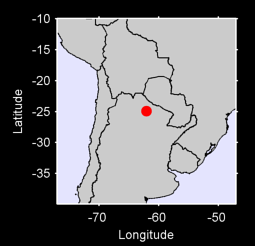 24.92 S, 62.07 W Local Context Map