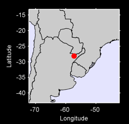 28.13 S, 57.27 W Local Context Map