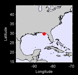 29.74 N, 84.92 W Local Context Map