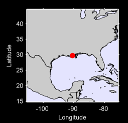 29.74 N, 90.46 W Local Context Map