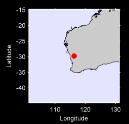 29.74 S, 116.31 E Local Context Map