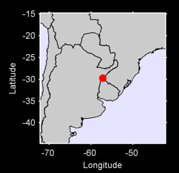 29.74 S, 57.23 W Local Context Map