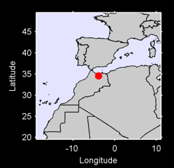 34.56 N, 3.89 W Local Context Map