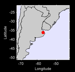 36.17 S, 57.68 W Local Context Map