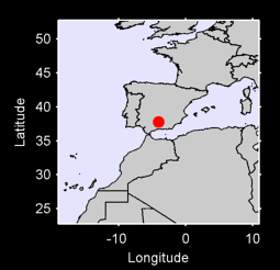 37.78 N, 4.07 W Local Context Map