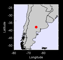 37.78 S, 65.08 W Local Context Map