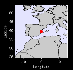 39.38 N, 0.00 W Local Context Map