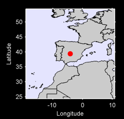 39.38 N, 4.16 W Local Context Map
