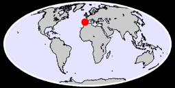 39.38 N, 6.24 W Global Context Map