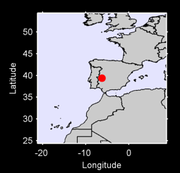 39.38 N, 6.24 W Local Context Map