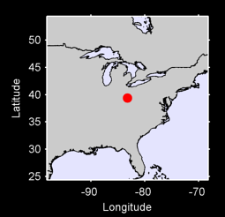 39.38 N, 83.24 W Local Context Map