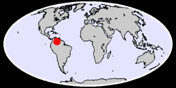 4.02 N, 66.70 W Global Context Map