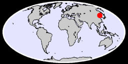 40.99 N, 125.68 E Global Context Map