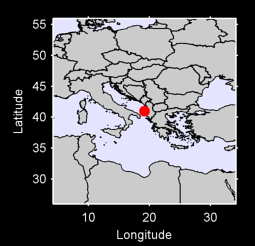40.99 N, 19.17 E Local Context Map