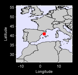 40.99 N, 2.13 E Local Context Map