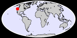 42.59 N, 124.36 W Global Context Map