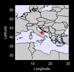 42.59 N, 15.27 E Local Context Map