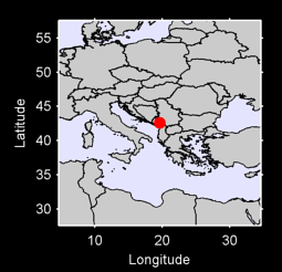 42.59 N, 19.64 E Local Context Map