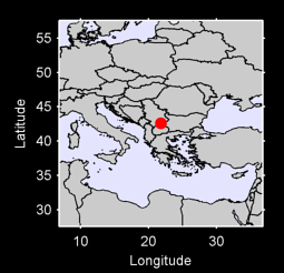 42.59 N, 21.82 E Local Context Map