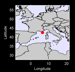 42.59 N, 6.55 E Local Context Map