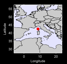 42.59 N, 8.73 E Local Context Map