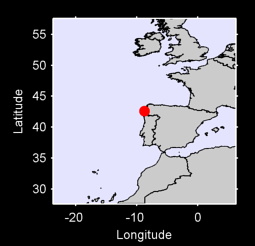 42.59 N, 8.73 W Local Context Map
