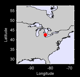 42.59 N, 82.91 W Local Context Map