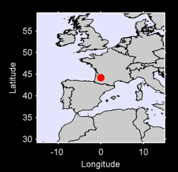 44.20 N, 0.00 W Local Context Map