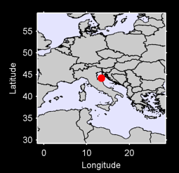 44.20 N, 13.42 E Local Context Map