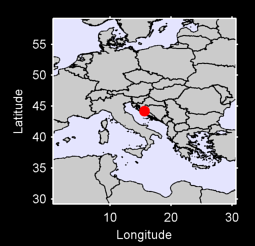 44.20 N, 15.65 E Local Context Map