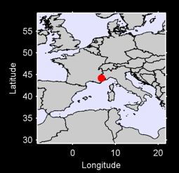 44.20 N, 6.71 E Local Context Map