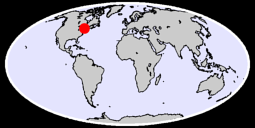 44.20 N, 78.26 W Global Context Map