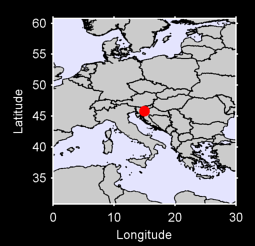 45.81 N, 15.00 E Local Context Map
