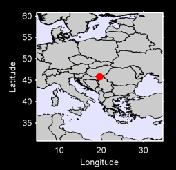 45.81 N, 19.62 E Local Context Map