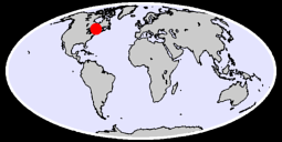 47.42 N, 76.97 W Global Context Map