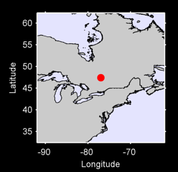 47.42 N, 76.97 W Local Context Map